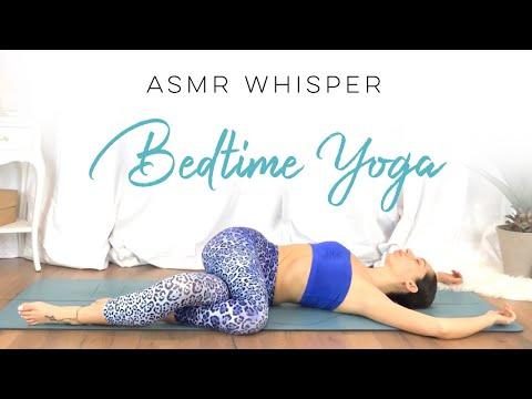 ASMR Yoga For Sleep   Soft Spoken Whisper