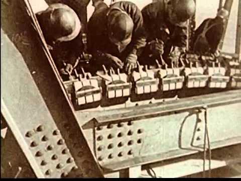 Building the Golden Gate Bridge (circa 1940)