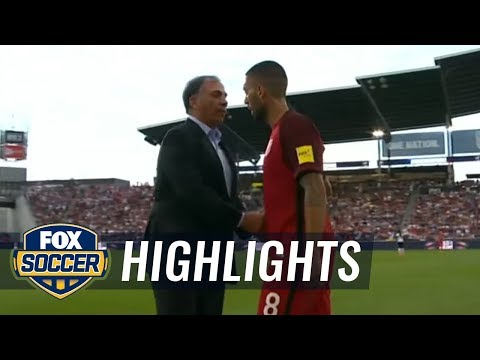 Dempsey clashes with Bruce Arena on touchline | 2017 CONCACAF World Cup Qualifying Highlights