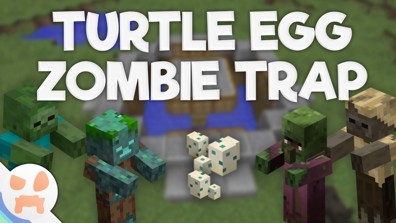 TURTLE EGG TRAP TUTORIAL!  Easy Gold farm , No Redstone , 11.111