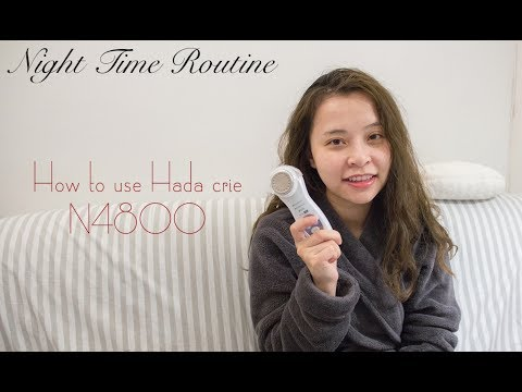 Night Time Routine Ft. Hada Crie N4800 | How To Use Hada Crie N4800
