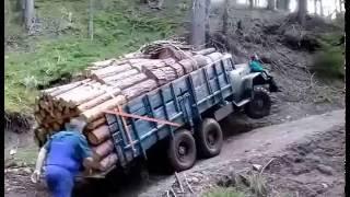 YOK ARTIK - Rus kamyonuna aşırı yük yüklenince