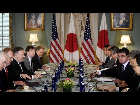 Pompeo, Shanahan Host Japanese Counterparts At State Department