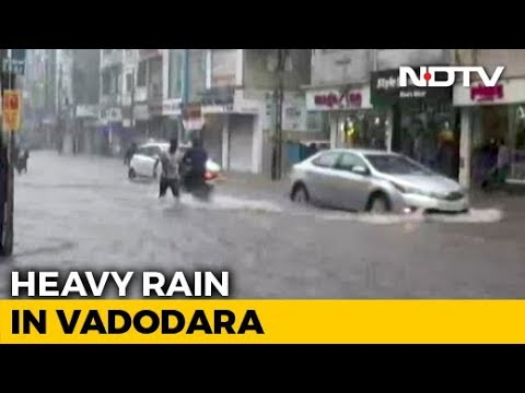Record Rain In Vadodara, Schools Shut Today, Airport Closed, Trains Hit