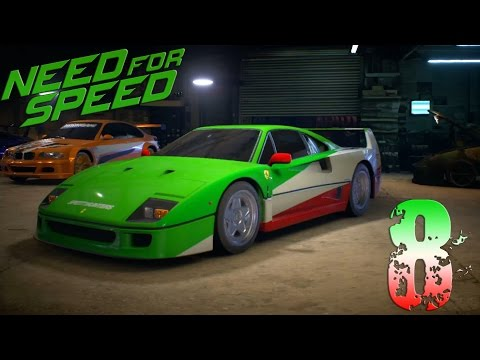 Need for Speed 2015. Прохождение. Часть 8 (Самая дорогая машина. Ferrari F40 1987) 60fps