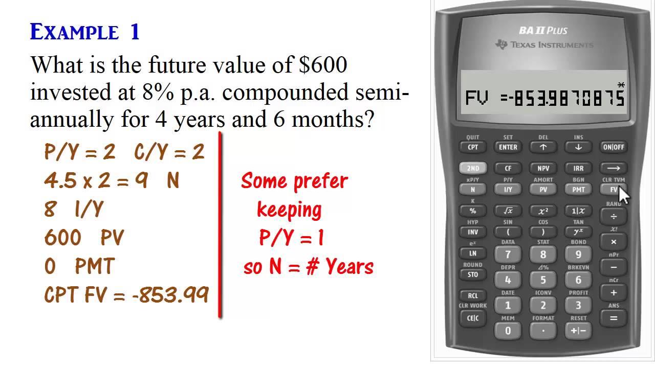 BA II Plus Calculator - Compound Interest (Present & Future Values) - YouTube
