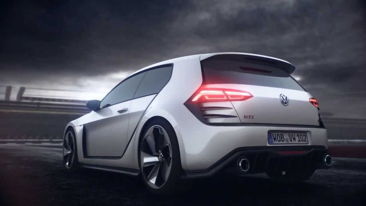 Volkswagen Golf Design Vision GTI Concept Action - YouTube