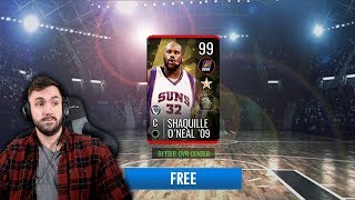 99 SHAQ OUT OF A FREE PACK NBA Live Mobile Top Pulls