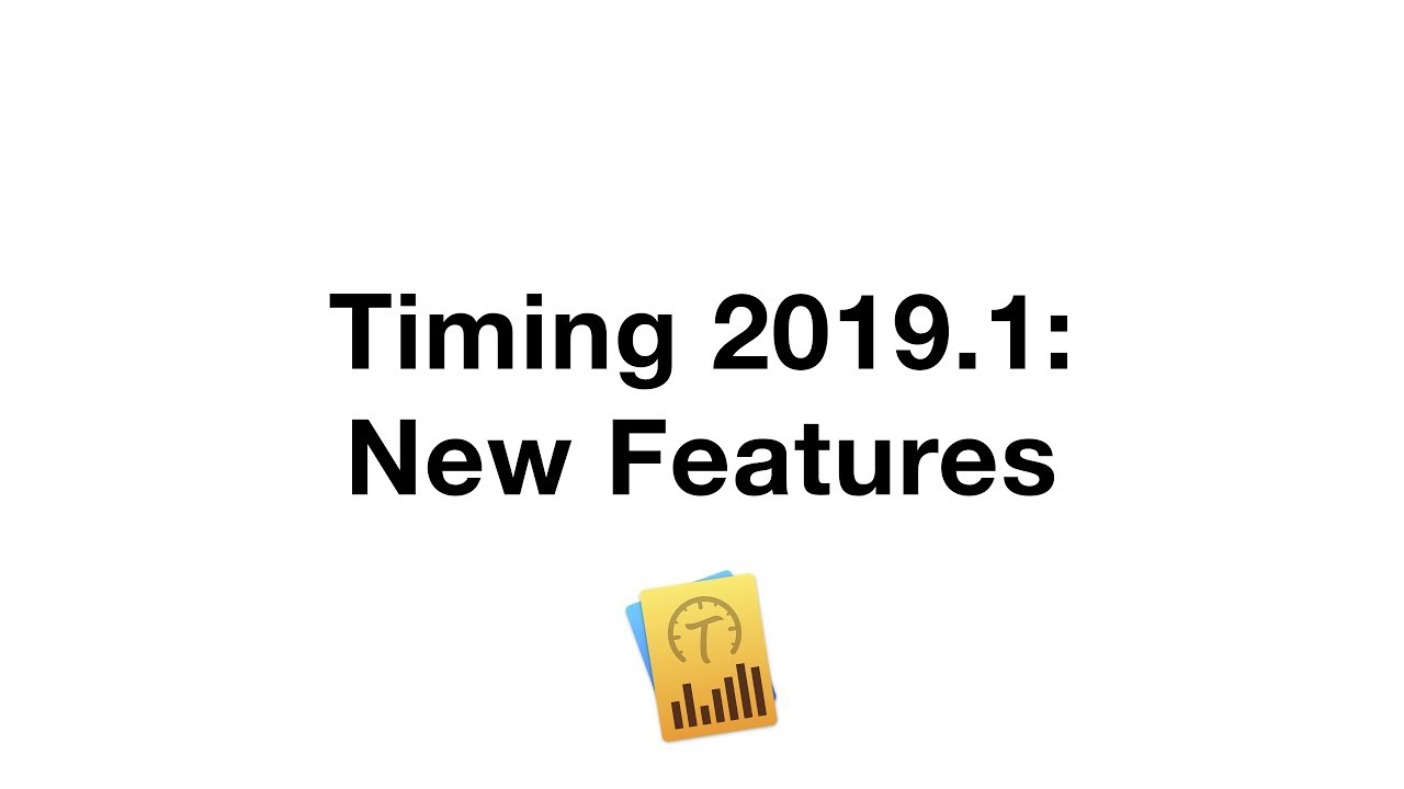 Release Notes — Timing — Automatic macOS Time Tracking for