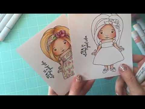 Coloring with Copics - Creating Flower Designs {La-La Land Crafts TV}