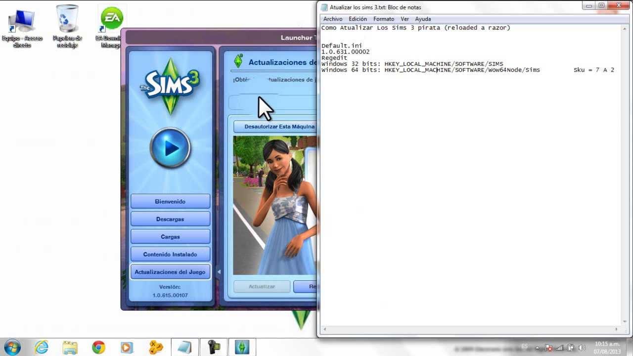 Кряк для The Sims 3 1.67