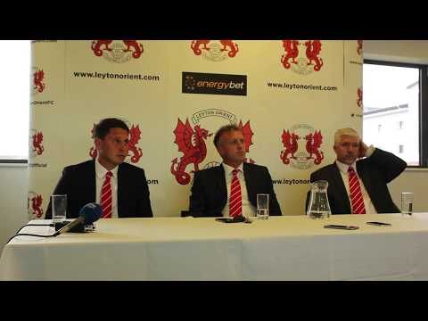 PRESS CONFERENCE: New Leyton Orient Head Coach Steve Davis is introduced to the media