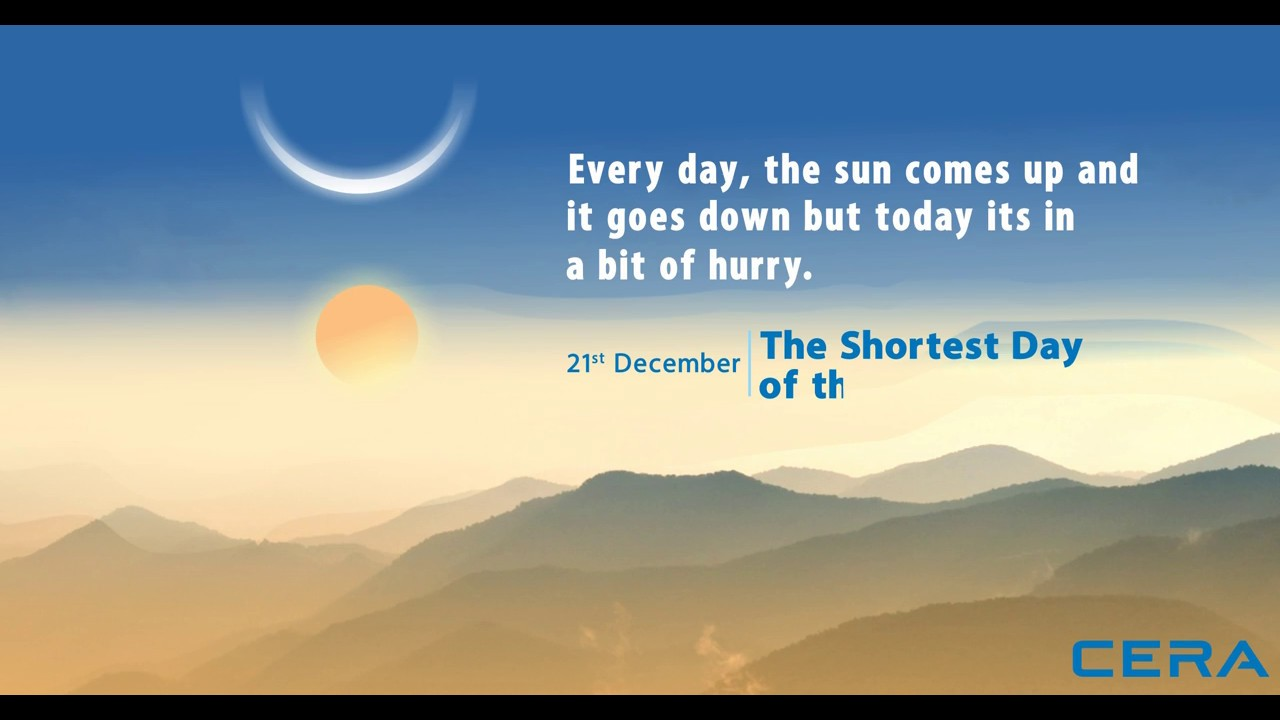 Shortest Day of the year - 2016 - YouTube