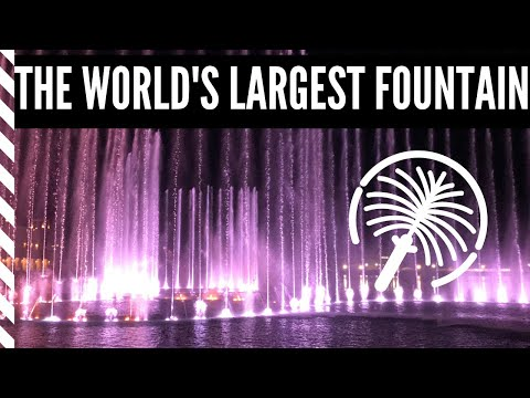 THE WORLD'S LARGEST FOUNTAIN!!! | THE POINTE AT PALM JUMEIRAH DUBAI