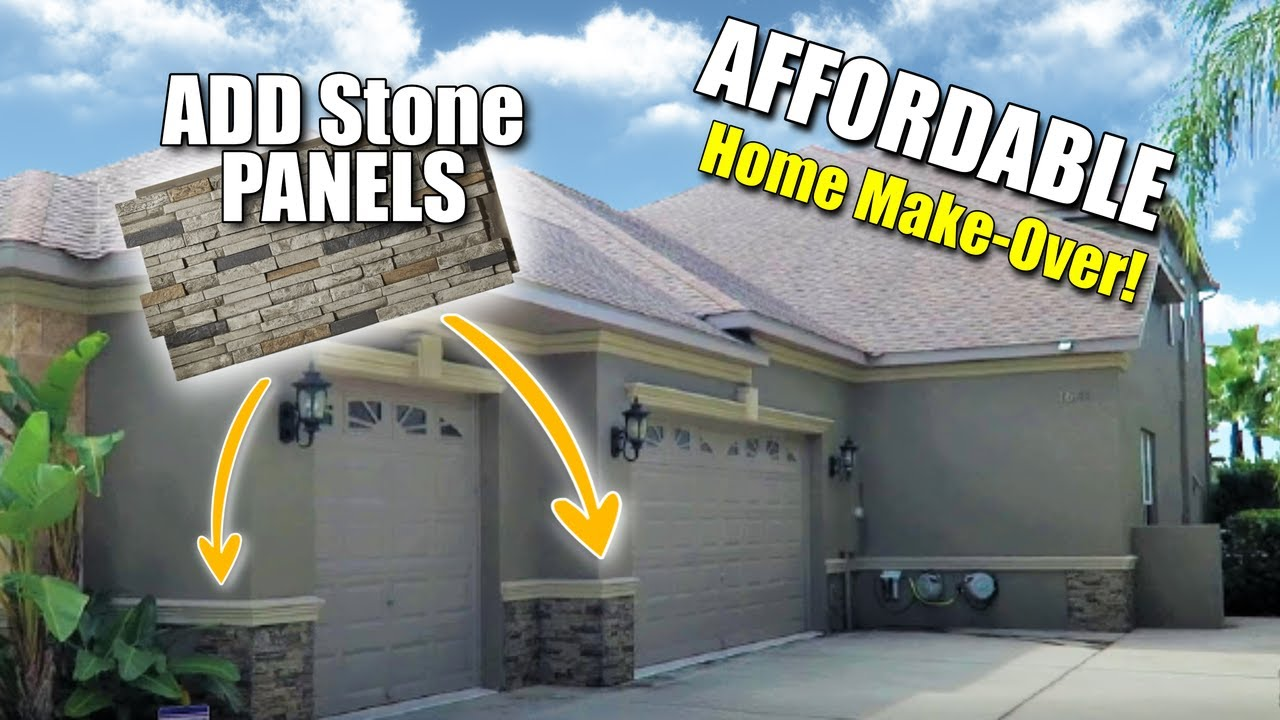 Install Fake Faux Stone Panels