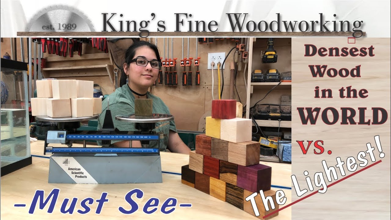 72 Densest Wood In The World Vs The Lightest Exotic Wood Showdown Must See