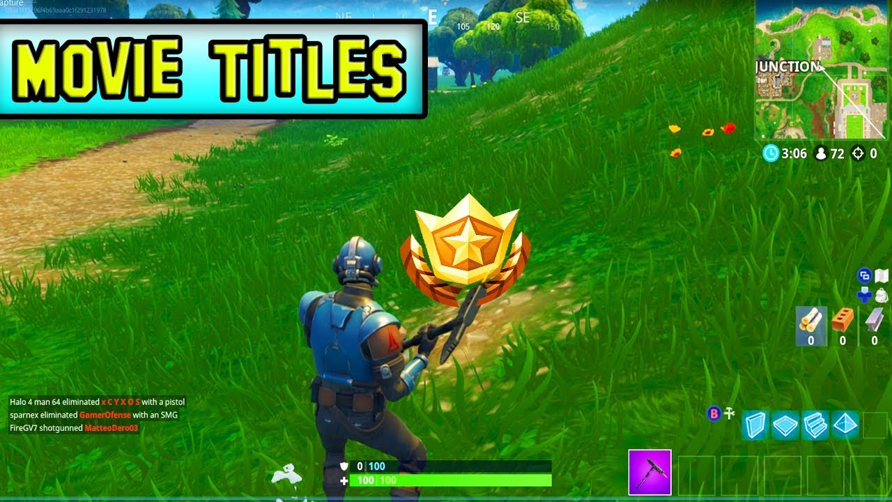 """Search Between Movie Titles"" Location! Fortnite Challenge"