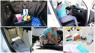 CAR CLEANING TIPS + HOW I KEEP MY CAR ORGANIZED | CAR TOUR!