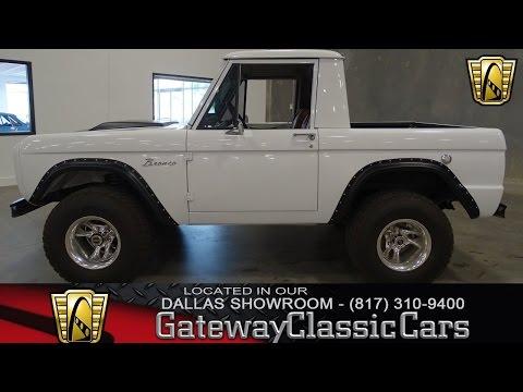 1966 Ford Bronco Half Cab Stock #255 Gateway Classic Cars of Dallas