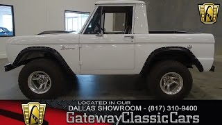 1966 Ford Bronco Half Cab Stock #255 Gateway Classic Cars of Dallas