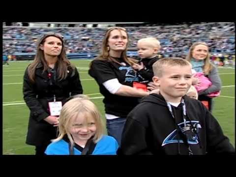 Soldier Surprises Family on field at Panthers Game