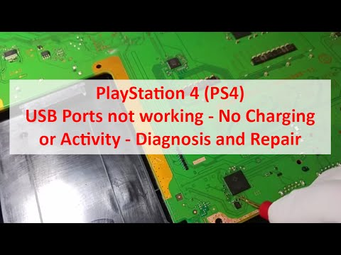 PlayStation 4 (PS4) USB Ports not working - No Charging or Activity - Diagnosis and Repair