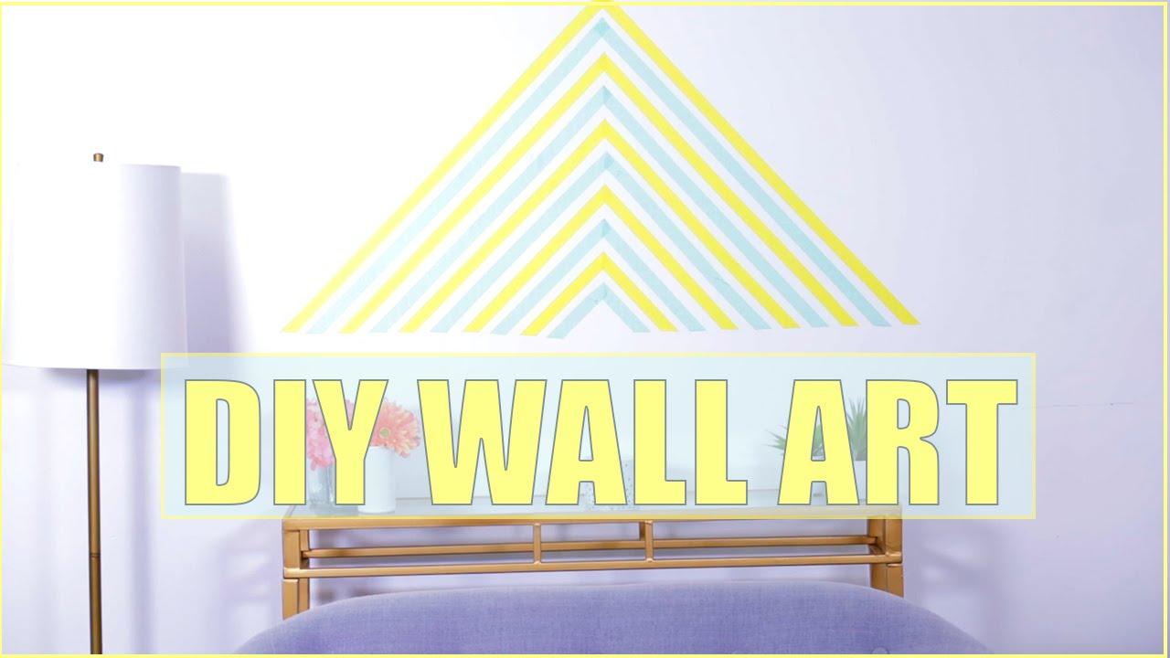 EASY DIY Wall Art #DIYRoomDecor - YouTube