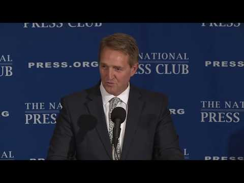 Senator Jeff Flake (R-AZ) speaks at The National Press Club