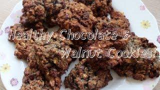 Healthy Chocolate & Walnut Cookies!
