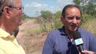 Valdo Lemos Dilmar inspeciona Obra da Adutora que leva água ao Canto Grande