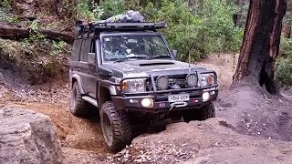 potters landcruiser 76 doing monkey gum