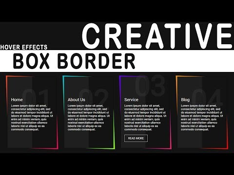 CSS Skewed Border | Creative row Border Hover Effects | pure css tutorial thumbnail