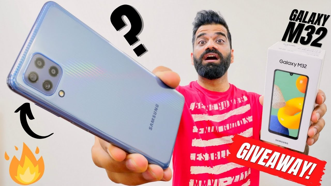 Samsung Galaxy M32 Unboxing & First Look | The Binge Monster | 90Hz | 64MP | 6000mAh | GIVEAWAY🔥🔥