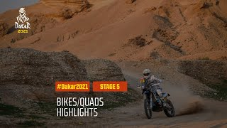 #DAKAR2021 - Stage 5 - Riyadh / Al Qaisumah - Bike/Quad Highlights