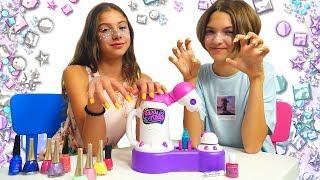 Süslenme oyunu! Polen ve arkadaşı parti için hazırlık yapıyorlar! Kız videosu