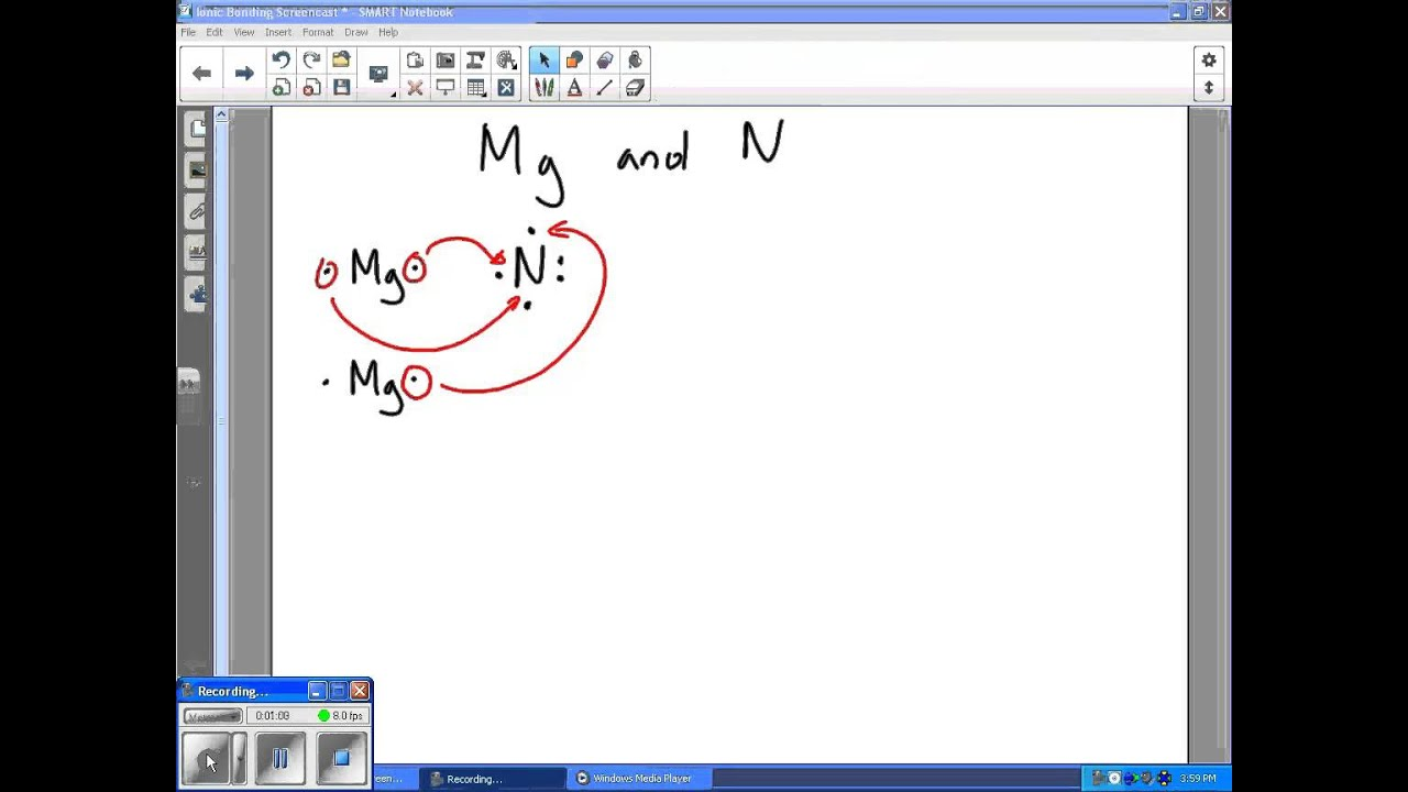 electron dot diagram magnesium installing nest low voltage ionic bonding example youtube