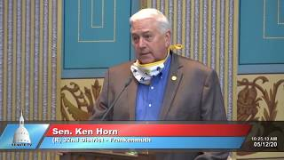 Sen. Horn on the passing of Former Sen. Morris Hood