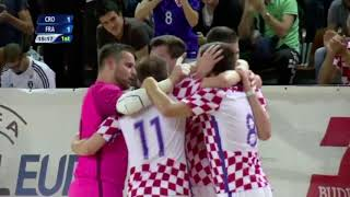 Croatia 4-5 France (Play-off for UEFA Futsal Euro 2018) Highlights