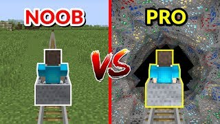 MINECRAFT NOOB vs. PRO - MONTANHA RUSSA NOOB VS MONTANHA RUSSA PRO NO MINECRAFT!!