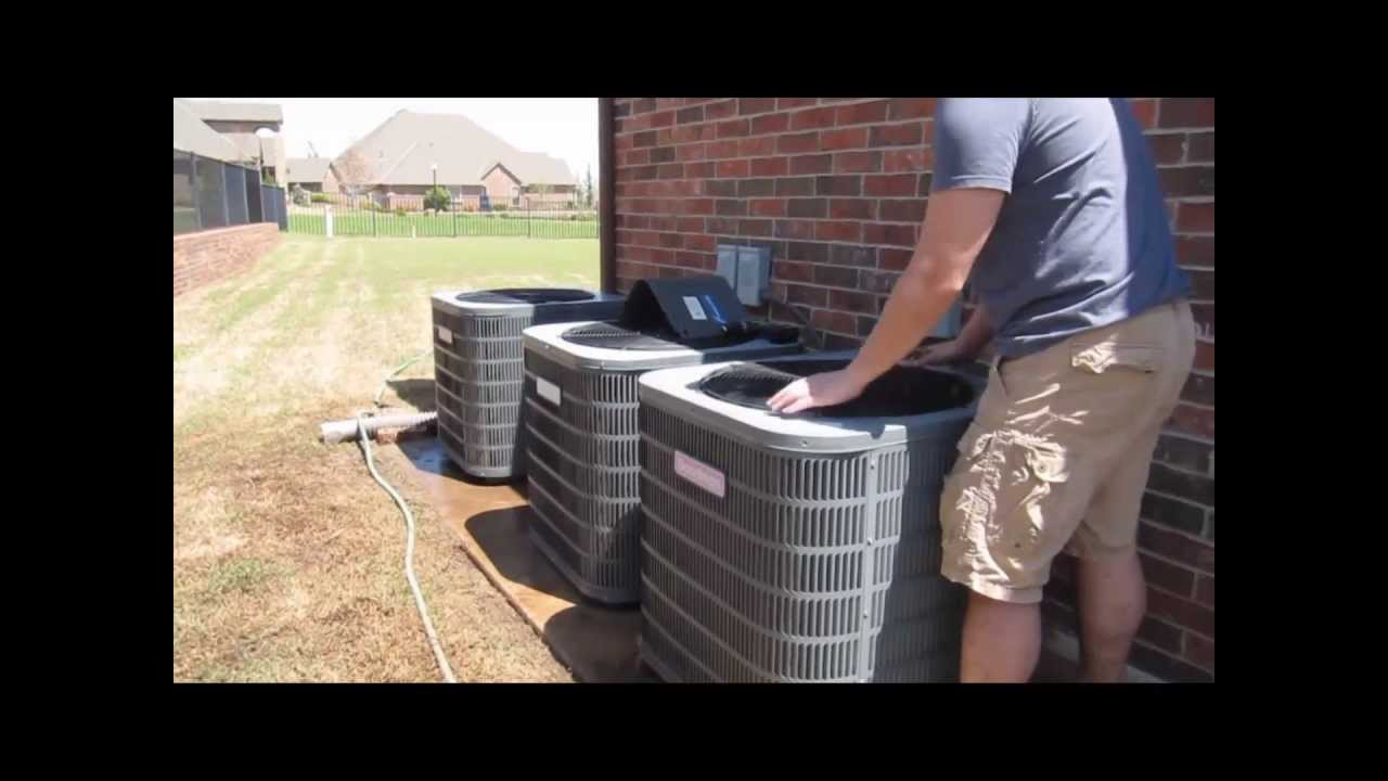 Goodman Condenser Cleaning Multizone Unit Ac Cleaning