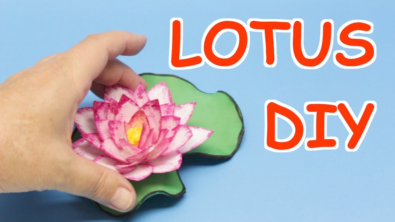 How To Make Lotus Flowers From Plastic Bottles Art And Craft Ideas