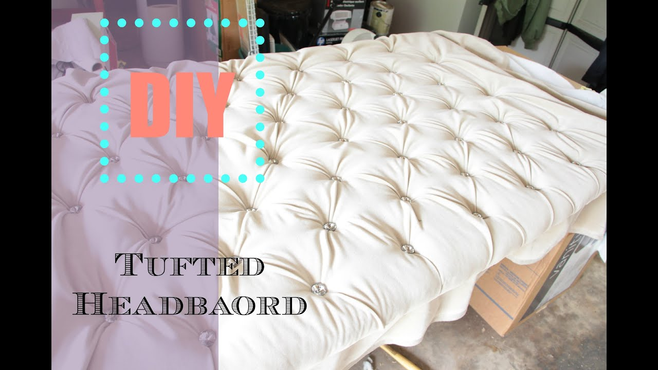 diy tufted headboard tutorial diy home decor ideas nia nicole youtube. Black Bedroom Furniture Sets. Home Design Ideas