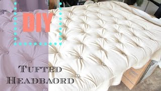 DIY Tufted headboard tutorial | NiaNicole