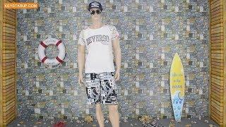 Allover print Men swim shorts direct supplier in china fujian shishi city BST0270