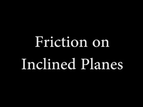 Friction on Inclined Planes
