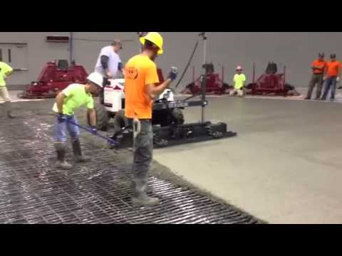 S 840 Laser Screed Machine On An Ice Rink Youtube