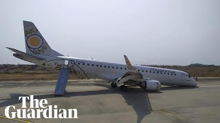 Myanmar plane makes emergency landing without front wheel
