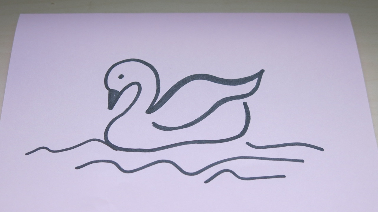 how to draw a swan simple drawing tutorial for kids