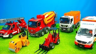 Müllauto & Mischerauto, Feuerwehr & Polizei, Bagger & Laster, Krankenwagen,Traktor & Jeep, Bruder