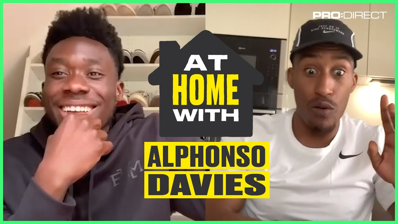 Alphonso Davies' sneaker collection is insane! | At Home With Yung Filly